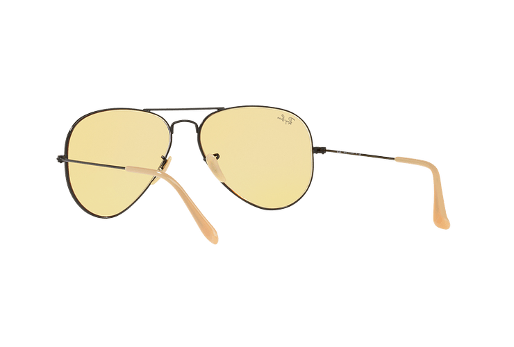 Ray Ban Aviador Matte Black lente Yellow Fotocromáticos cod. RB3025 90664A 58 - Image 5