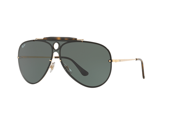 fc8192eb7d Ray Ban Blaze Shooter Gold lente Green cod. RB3581N 001/7...