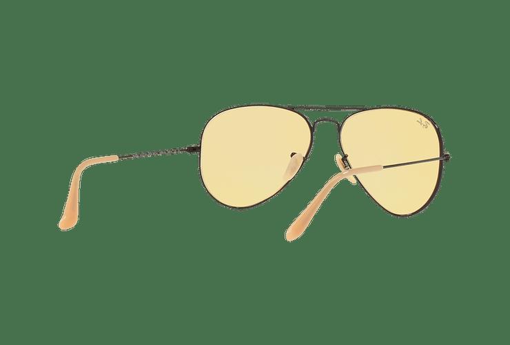 Ray Ban Aviador Matte Black lente Yellow Fotocromáticos cod. RB3025 90664A 58 - Image 7