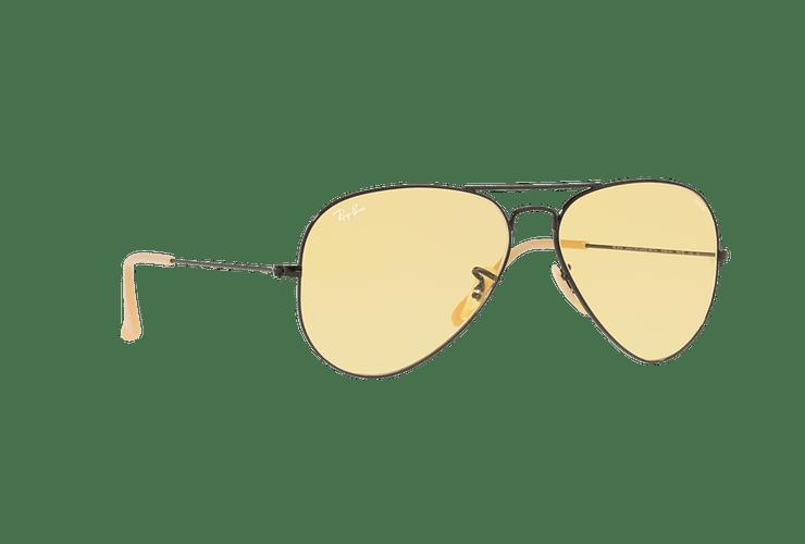 Ray Ban Aviador Matte Black lente Yellow Fotocromáticos cod. RB3025 90664A 58 - Image 11