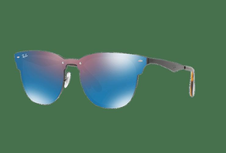 Ray Ban Blaze Clubmaster Black lente Violet / Blue Mirror cod. RB3576N 153/7V 47 Desc25% - Image 1