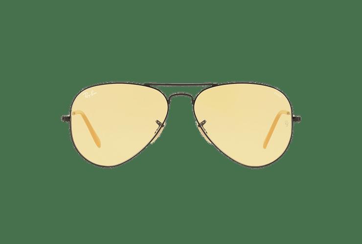Ray Ban Aviador Matte Black lente Yellow Fotocromáticos cod. RB3025 90664A 58 - Image 12