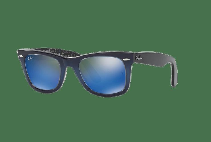 Ray-Ban Wayfarer Blue lente Blue Mirror cod. RB2140 120368 50 - Image 1