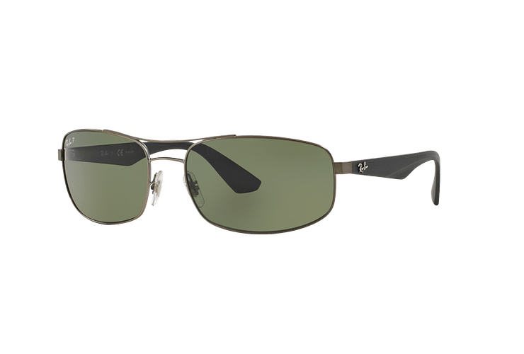 Ray Ban Aerodinámico RB3527 Matte Gunmetal lente Dark Green Polarized cod. RB3527 029/9A 61 - Image 1