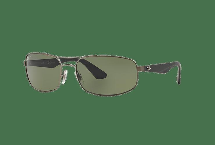 Ray-Ban Aerodinámico RB3527 Matte Gunmetal lente Dark Green Polarized cod. RB3527 029/9A 61 - Image 1