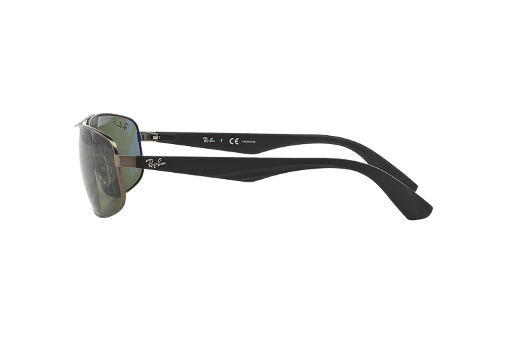 Ray Ban Aerodinámico RB3527 Matte Gunmetal lente Dark Green Polarized cod. RB3527 029/9A 61 - Image 3