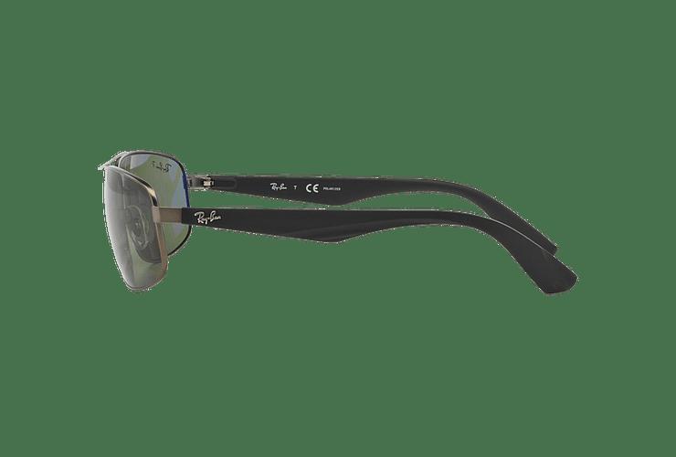 Ray-Ban Aerodinámico RB3527 Matte Gunmetal lente Dark Green Polarized cod. RB3527 029/9A 61 - Image 3