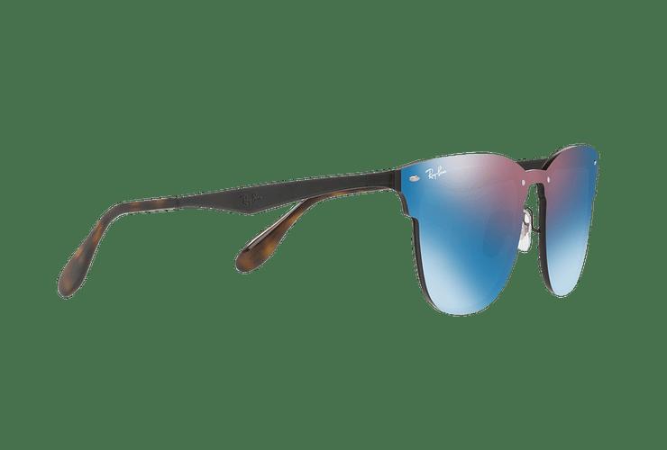 Ray Ban Blaze Clubmaster Black lente Violet / Blue Mirror cod. RB3576N 153/7V 47 Desc25% - Image 10