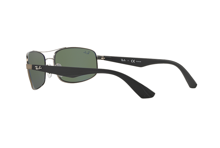 Ray Ban Aerodinámico RB3527 Matte Gunmetal lente Dark Green Polarized cod. RB3527 029/9A 61 - Image 4