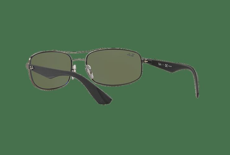 Ray-Ban Aerodinámico RB3527 Matte Gunmetal lente Dark Green Polarized cod. RB3527 029/9A 61 - Image 5