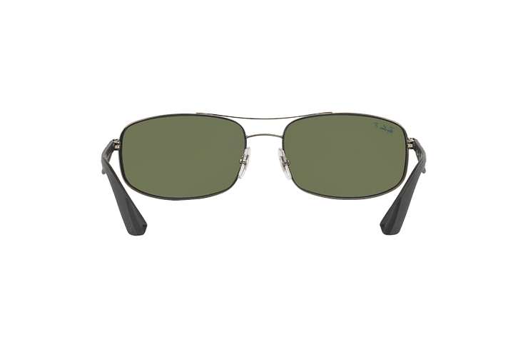 Ray-Ban Aerodinámico RB3527 Matte Gunmetal lente Dark Green Polarized cod. RB3527 029/9A 61 - Image 6