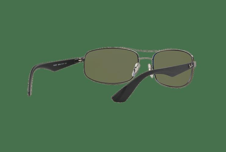 Ray Ban Aerodinámico RB3527 Matte Gunmetal lente Dark Green Polarized cod. RB3527 029/9A 61 - Image 7