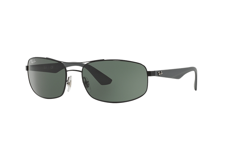 Ray Ban Aerodinámico RB3527 Matte Black lente Green / Grey cod. RB3527 006/71 61 - Image 1