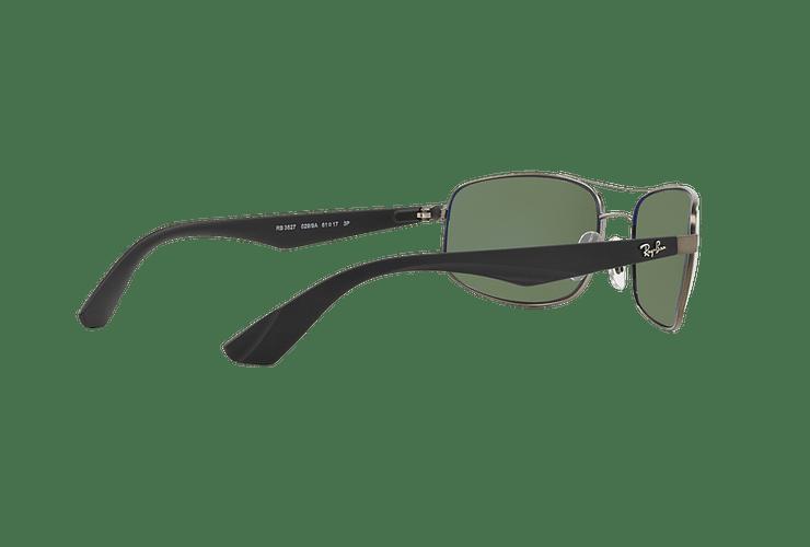 Ray Ban Aerodinámico RB3527 Matte Gunmetal lente Dark Green Polarized cod. RB3527 029/9A 61 - Image 8