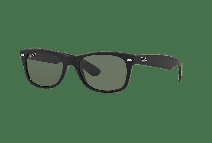 Ray Ban New Wayfarer Rubber Black lente Green Polarized cod. RB2132 622/58 55 - Image 1
