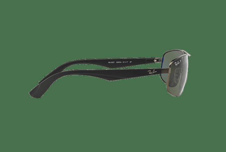 Ray Ban Aerodinámico RB3527 Matte Gunmetal lente Dark Green Polarized cod. RB3527 029/9A 61 - Image 9