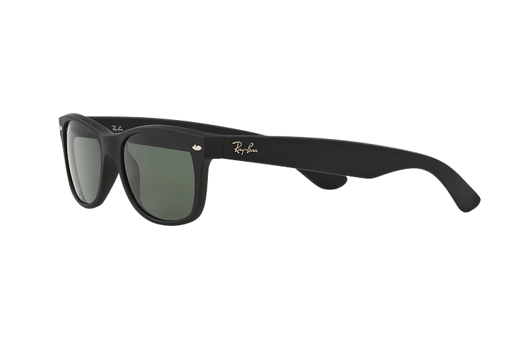Ray Ban New Wayfarer Rubber Black lente Green Polarized cod. RB2132 622/58 55 - Image 2