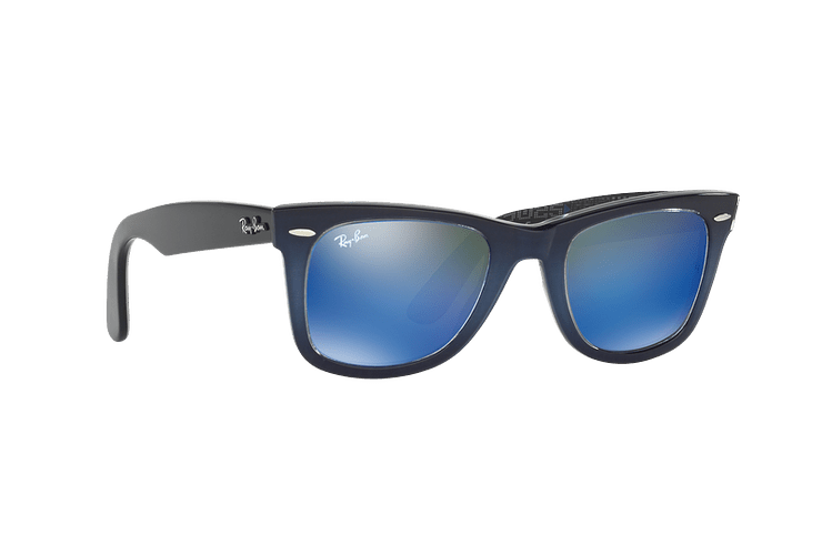 Ray Ban Wayfarer Blue lente Blue Mirror cod. RB2140 120368 50 - Image 11