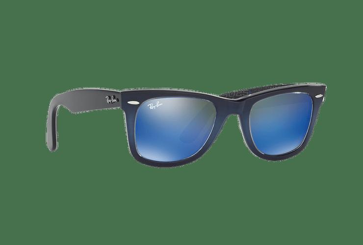 Ray-Ban Wayfarer Blue lente Blue Mirror cod. RB2140 120368 50 - Image 11