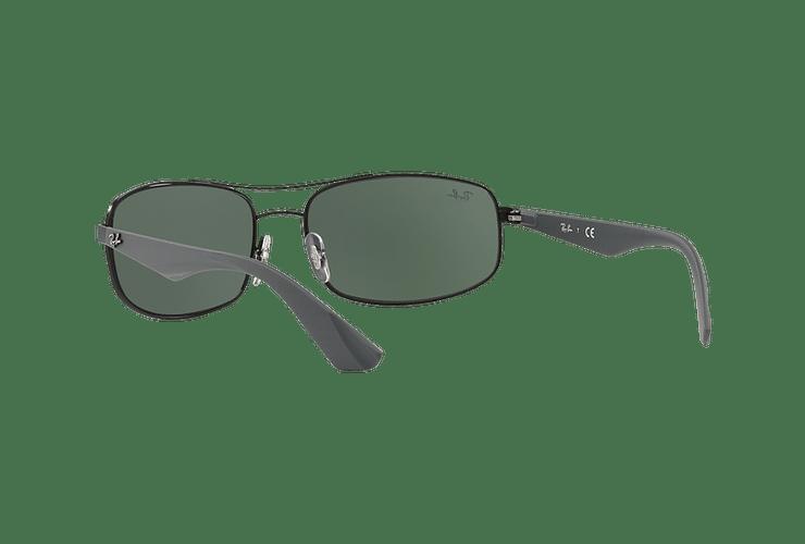 Ray Ban Aerodinámico RB3527 Matte Black lente Green / Grey cod. RB3527 006/71 61 - Image 5