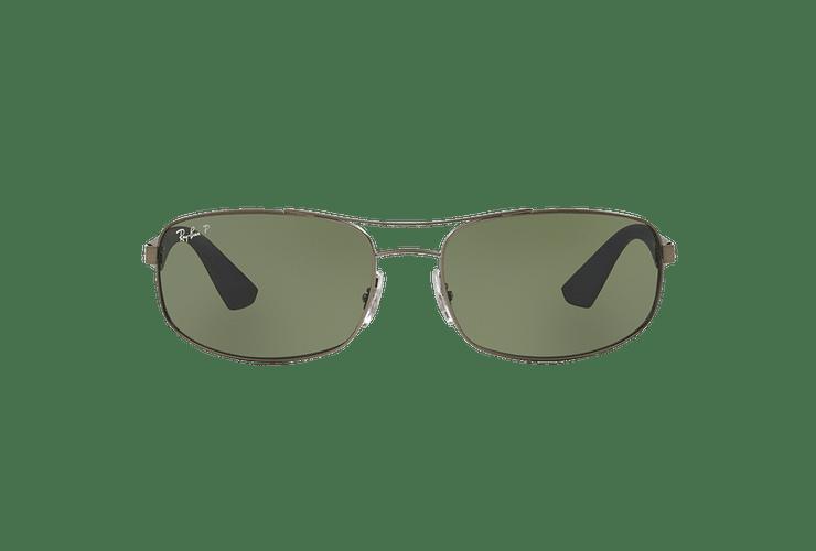 Ray-Ban Aerodinámico RB3527 Matte Gunmetal lente Dark Green Polarized cod. RB3527 029/9A 61 - Image 12