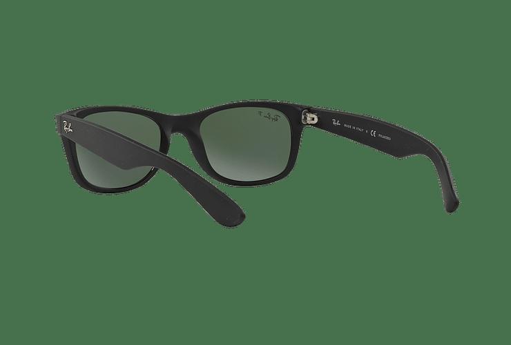 Ray Ban New Wayfarer Rubber Black lente Green Polarized cod. RB2132 622/58 55 - Image 5