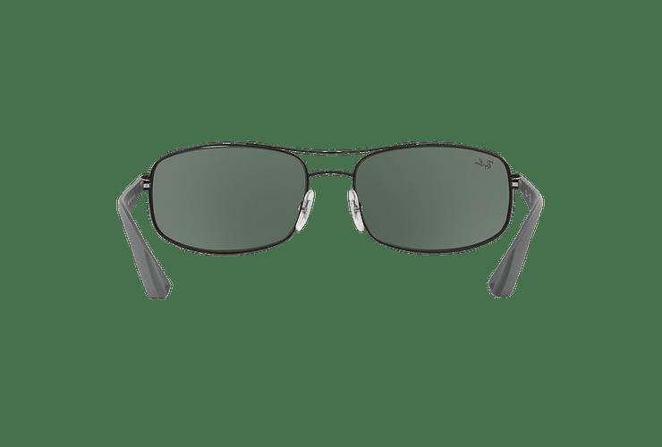 Ray Ban Aerodinámico RB3527 Matte Black lente Green / Grey cod. RB3527 006/71 61 - Image 6