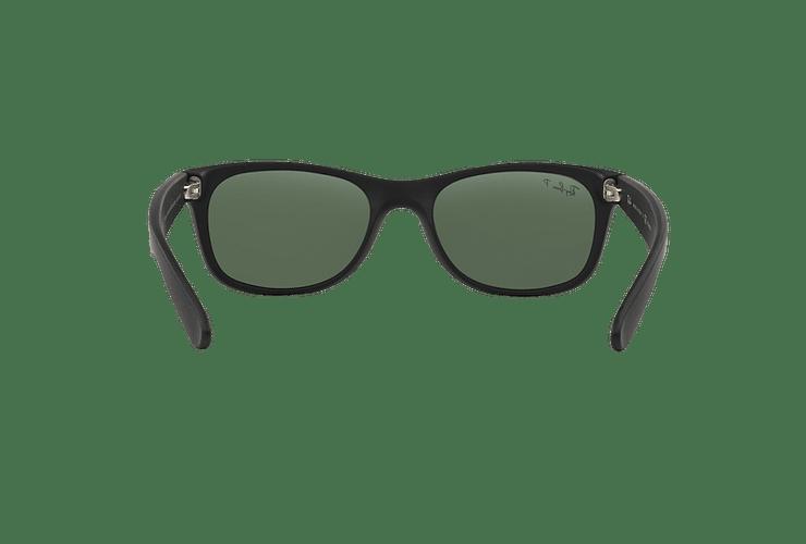 Ray Ban New Wayfarer Rubber Black lente Green Polarized cod. RB2132 622/58 55 - Image 6