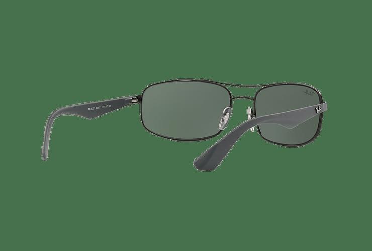 Ray Ban Aerodinámico RB3527 Matte Black lente Green / Grey cod. RB3527 006/71 61 - Image 7