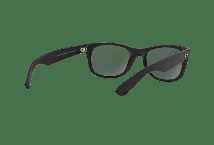 Ray Ban New Wayfarer Rubber Black lente Green Polarized cod. RB2132 622/58 55 - Image 7