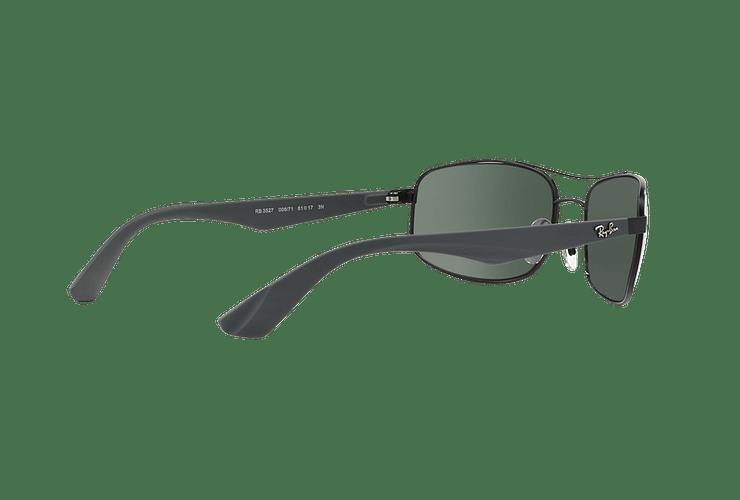 Ray Ban Aerodinámico RB3527 Matte Black lente Green / Grey cod. RB3527 006/71 61 - Image 8