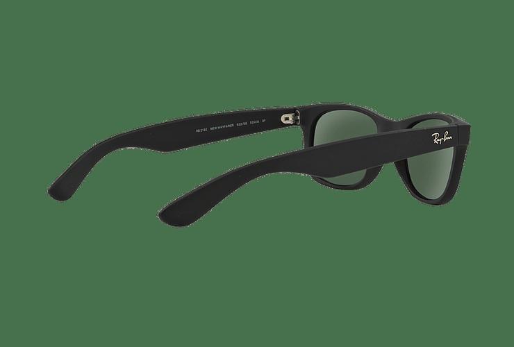 Ray Ban New Wayfarer Rubber Black lente Green Polarized cod. RB2132 622/58 55 - Image 8