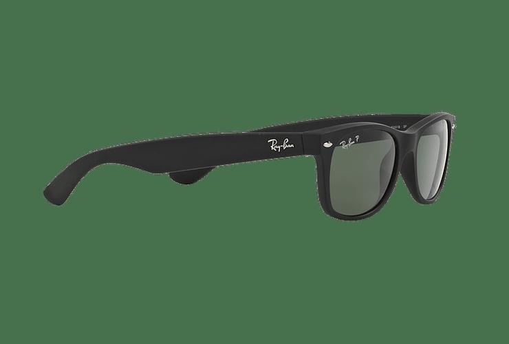 Ray Ban New Wayfarer Rubber Black lente Green Polarized cod. RB2132 622/58 55 - Image 10