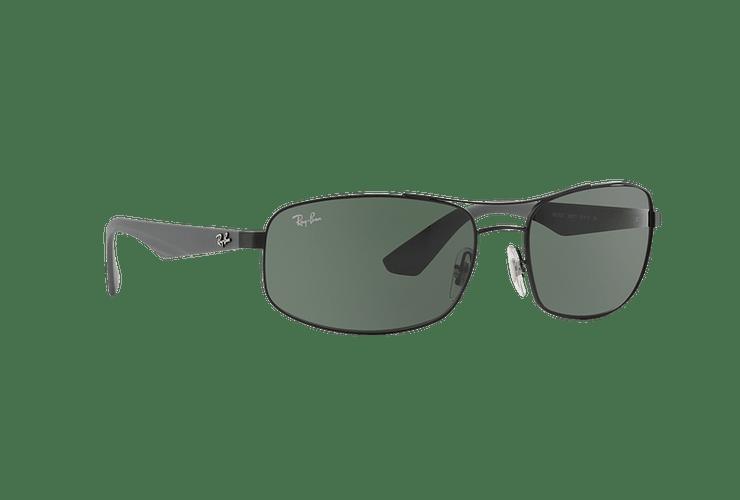 Ray Ban Aerodinámico RB3527 Matte Black lente Green / Grey cod. RB3527 006/71 61 - Image 11