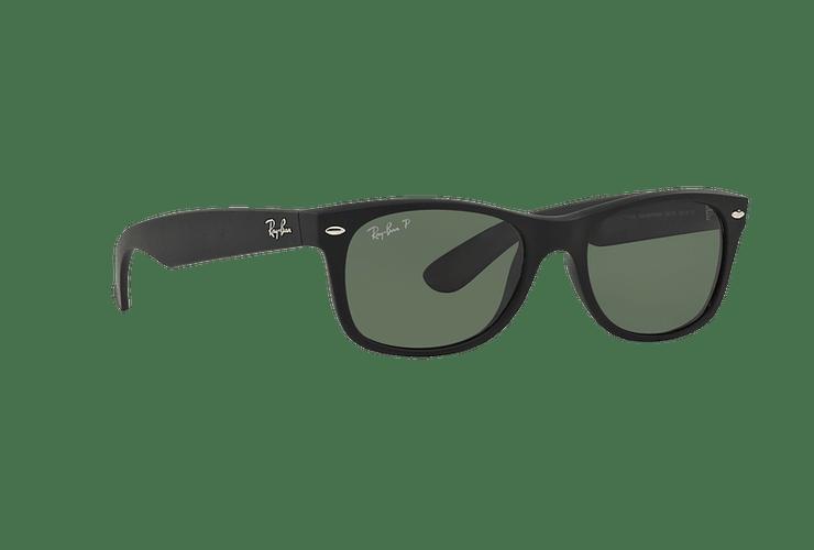 Ray Ban New Wayfarer Rubber Black lente Green Polarized cod. RB2132 622/58 55 - Image 11