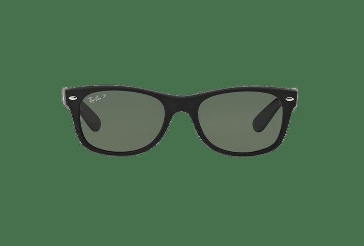 Ray Ban New Wayfarer Rubber Black lente Green Polarized cod. RB2132 622/58 55 - Image 12