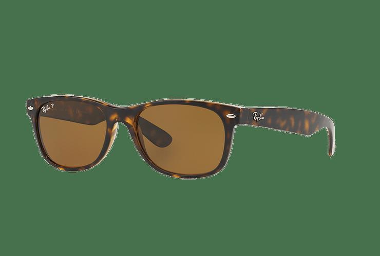 Ray Ban New Wayfarer Tortoise lente Crystal Brown Polarized cod. RB2132 902/57 55 - Image 1