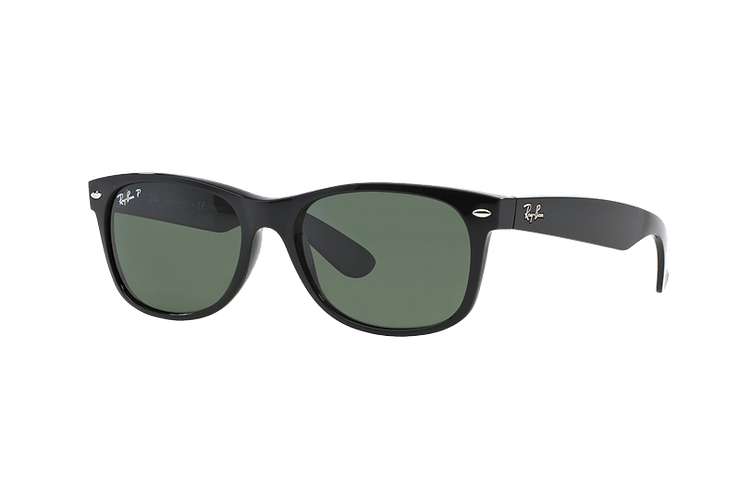 Ray Ban New Wayfarer Black lente Crystal Green Polarized cod. RB2132 901/58 55 - Image 1