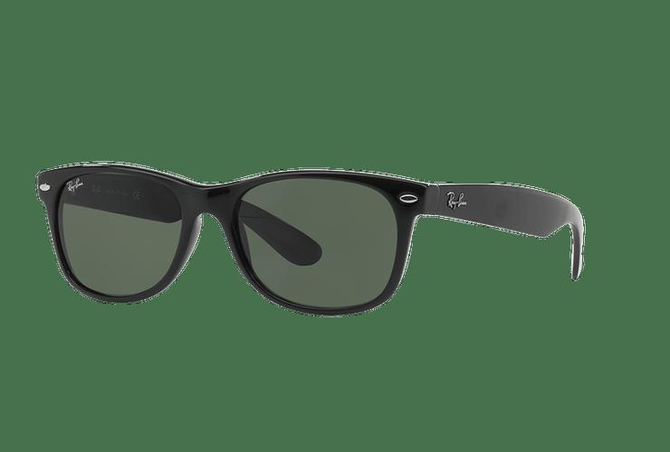 Ray Ban New Wayfarer Black lente Crystal Green cod. RB2132 901L 55 - Image 1