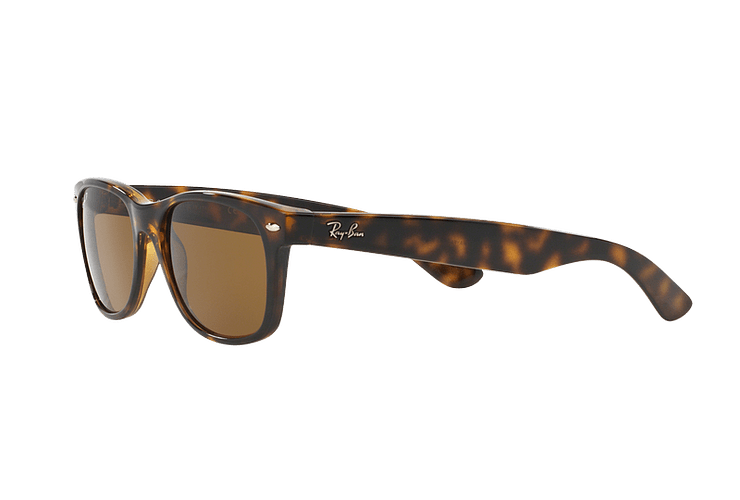 Ray Ban New Wayfarer Tortoise lente Crystal Brown Polarized cod. RB2132 902/57 55 - Image 2