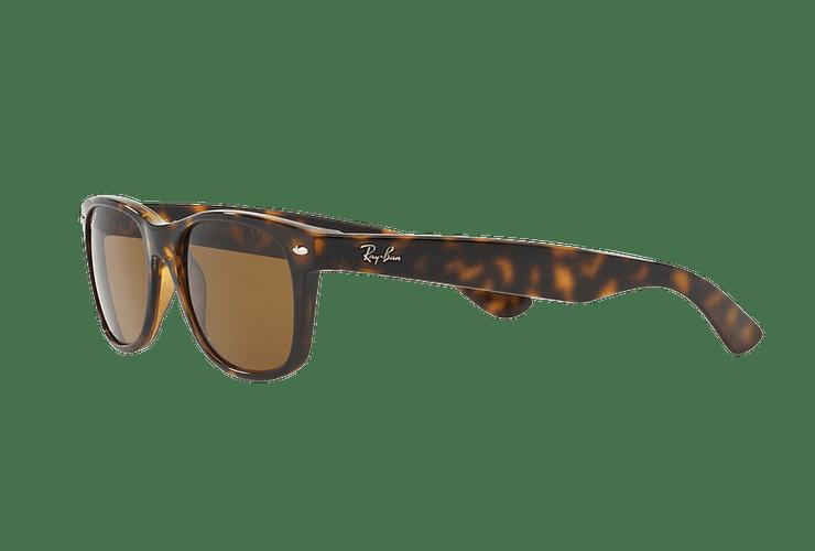 Ray Ban New Wayfarer Tortoise lente Crystal Brown Polarized cod. RB2132 902/57 55 - Image 2