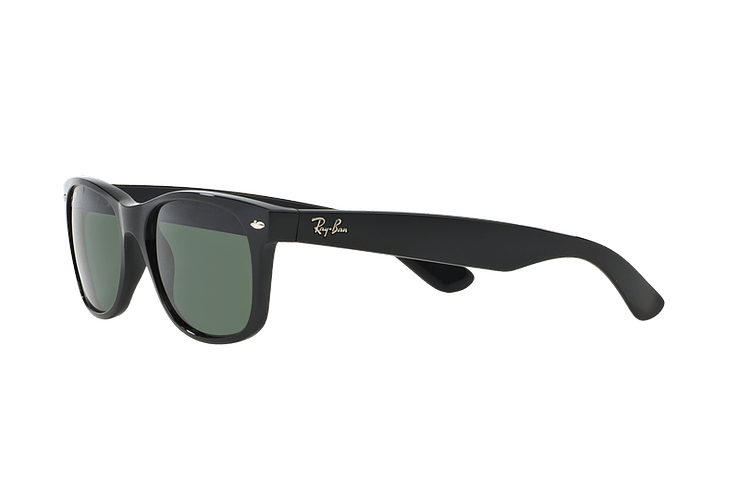 Ray Ban New Wayfarer Black lente Crystal Green Polarized cod. RB2132 901/58 55 - Image 2