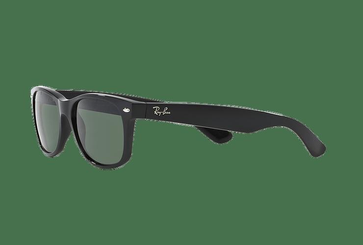 Ray Ban New Wayfarer Black lente Crystal Green Polarized cod. RB2132 901/58 55 - Image 2