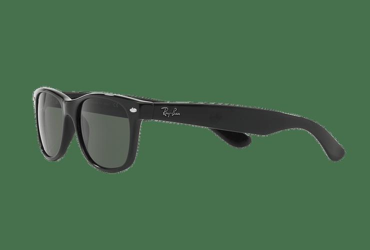 Ray Ban New Wayfarer Black lente Crystal Green cod. RB2132 901L 55 - Image 2
