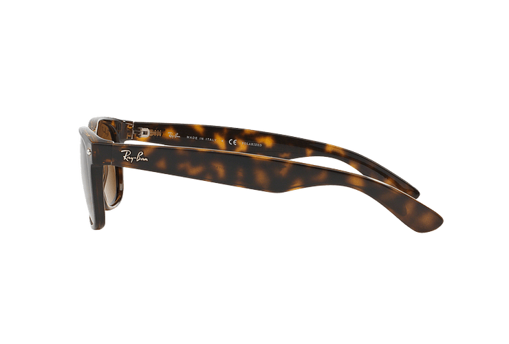 Ray Ban New Wayfarer Tortoise lente Crystal Brown Polarized cod. RB2132 902/57 55 - Image 3