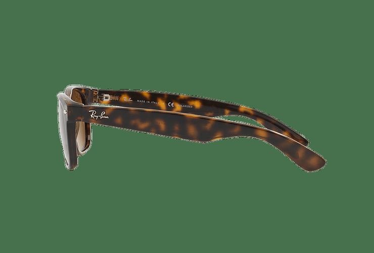 Ray Ban New Wayfarer Tortoise lente Crystal Brown Polarized cod. RB2132 902/57 55 - Image 3