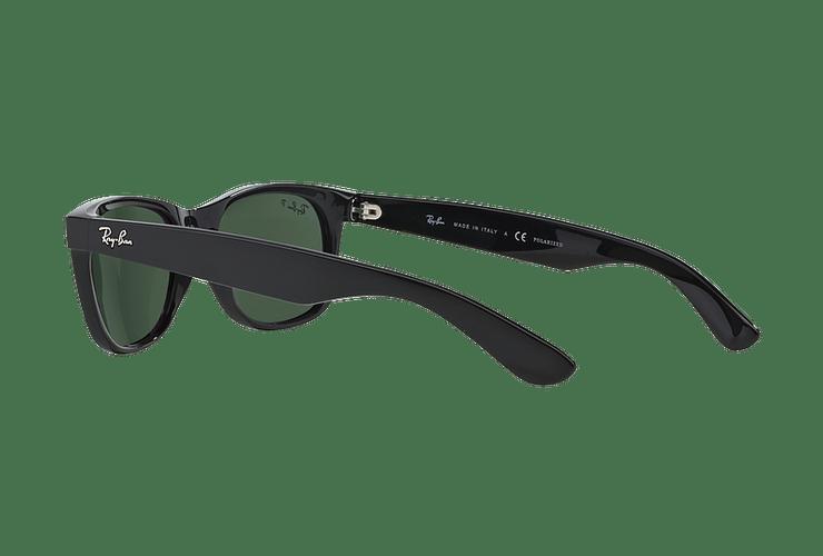 Ray Ban New Wayfarer Black lente Crystal Green Polarized cod. RB2132 901/58 55 - Image 4