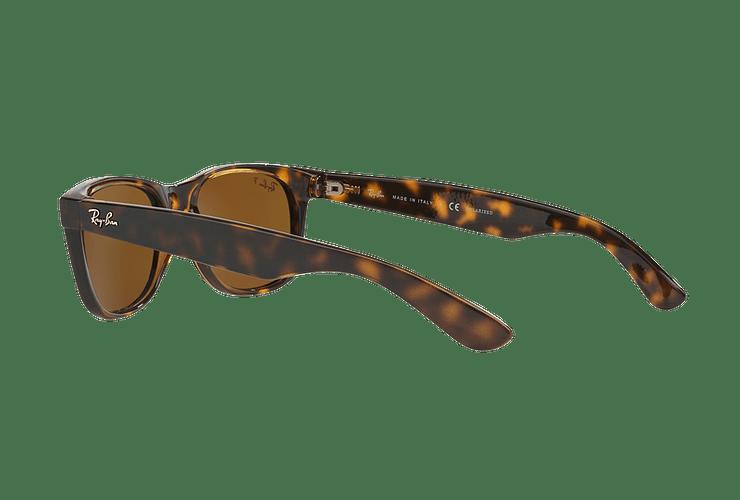 Ray Ban New Wayfarer Tortoise lente Crystal Brown Polarized cod. RB2132 902/57 55 - Image 4