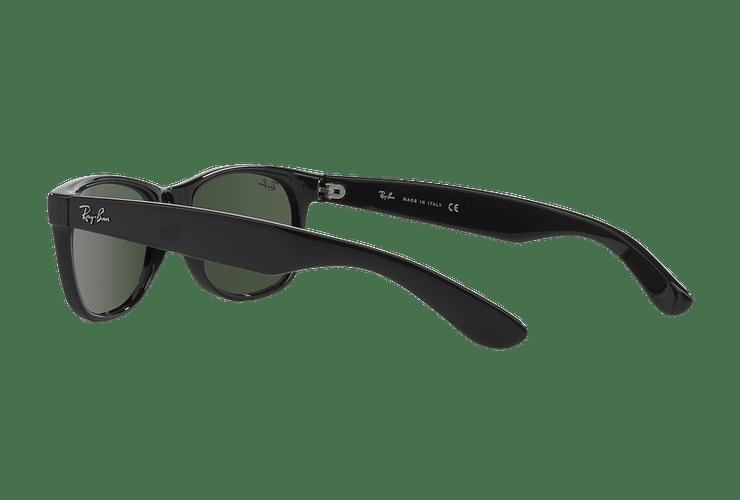 Ray Ban New Wayfarer Black lente Crystal Green cod. RB2132 901L 55 - Image 4