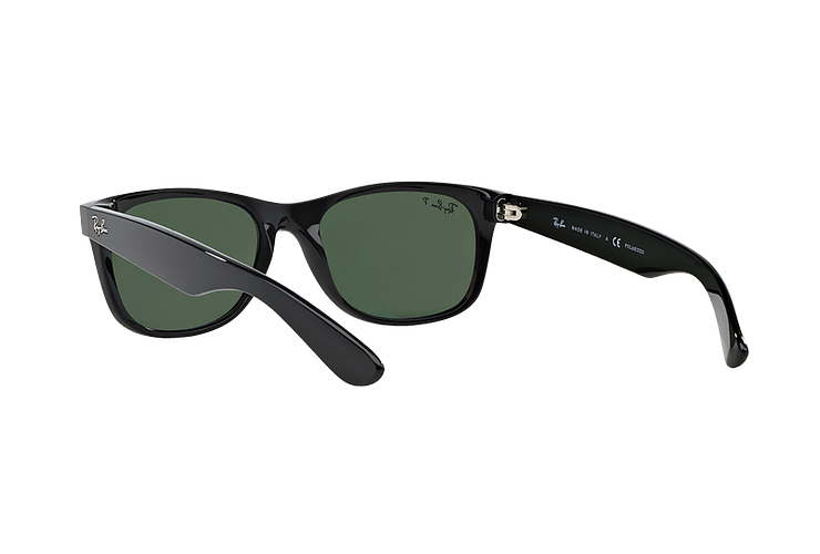 Ray Ban New Wayfarer Black lente Crystal Green Polarized cod. RB2132 901/58 55 - Image 5